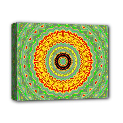 Mandala Deluxe Canvas 14  X 11  (framed) by Siebenhuehner