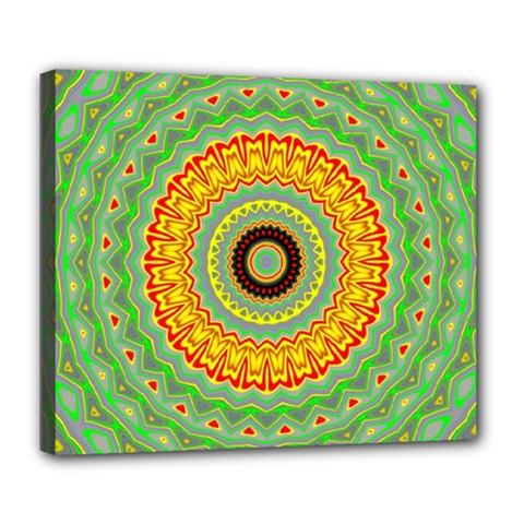 Mandala Deluxe Canvas 24  X 20  (framed) by Siebenhuehner