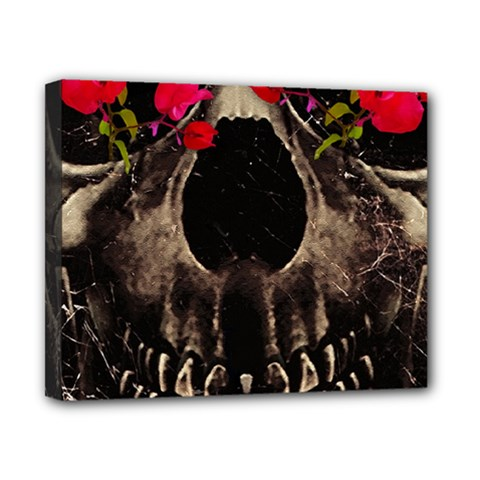 Death And Flowers Canvas 10  X 8  (framed) by dflcprints