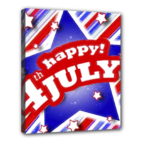 4th Of July Celebration Design Deluxe Canvas 24  X 20  (framed) by dflcprints