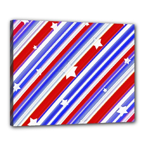 American Motif Canvas 20  X 16  (framed) by dflcprints
