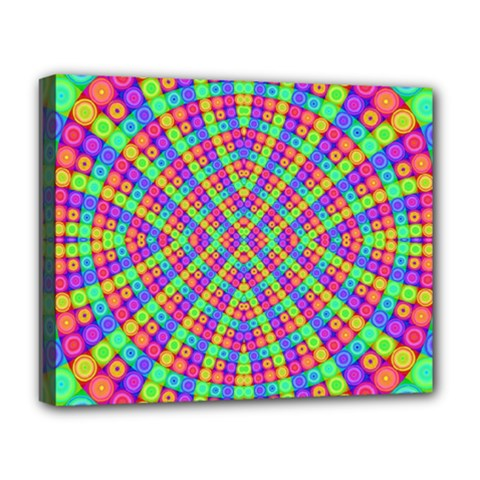 Many Circles Deluxe Canvas 20  X 16  (framed) by SaraThePixelPixie