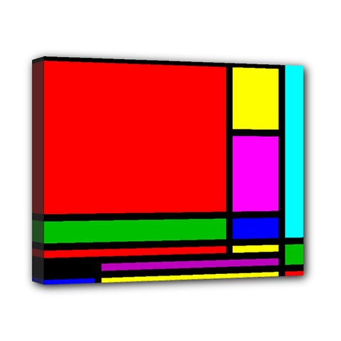 Mondrian Canvas 10  X 8  (framed) by Siebenhuehner