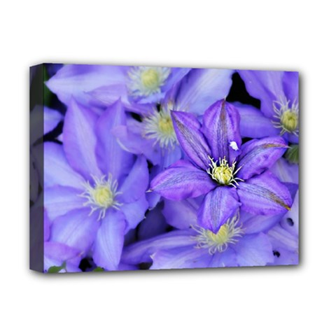 Purple Wildflowers For Fms Deluxe Canvas 16  X 12  (framed)  by FunWithFibro