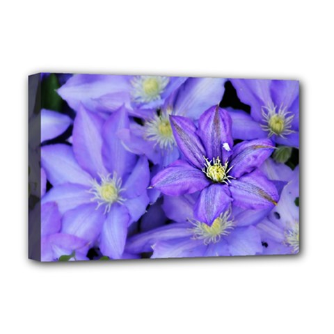 Purple Wildflowers For Fms Deluxe Canvas 18  X 12  (framed) by FunWithFibro
