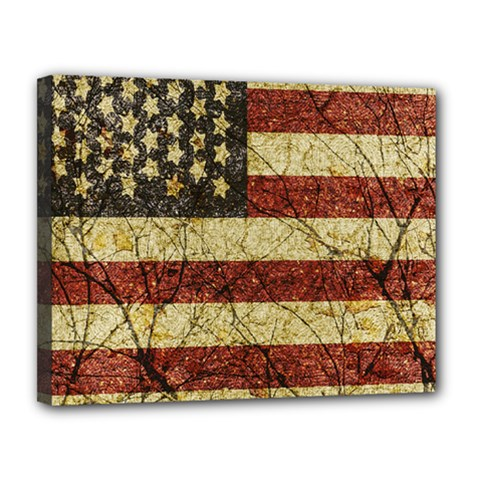 Vinatge American Roots Canvas 14  X 11  (framed) by dflcprints
