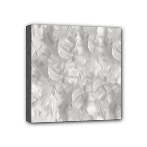 Abstract In Silver Mini Canvas 4  X 4  (framed)