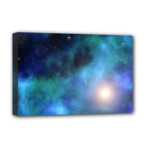 Amazing Universe Deluxe Canvas 18  X 12  (framed)