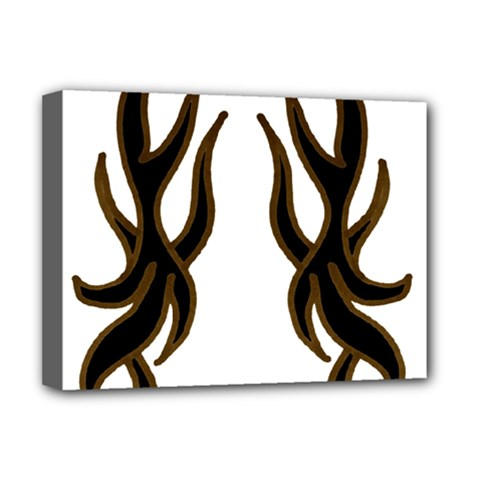 Dancing Fire Deluxe Canvas 16  X 12  (framed)  by coolcow