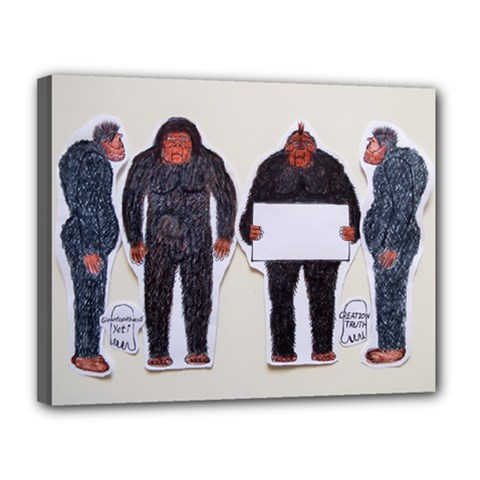 4 Yeti,1 Text Board  Canvas 14  X 11  (framed) by creationtruth