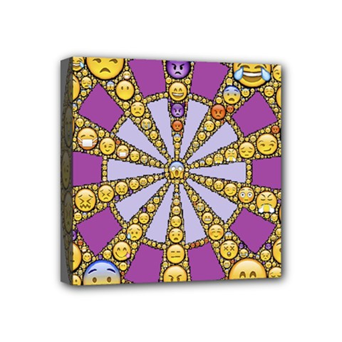 Circle Of Emotions Mini Canvas 4  X 4  (framed) by FunWithFibro