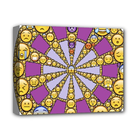 Circle Of Emotions Deluxe Canvas 14  X 11  (framed) by FunWithFibro