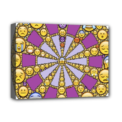 Circle Of Emotions Deluxe Canvas 16  X 12  (framed)  by FunWithFibro