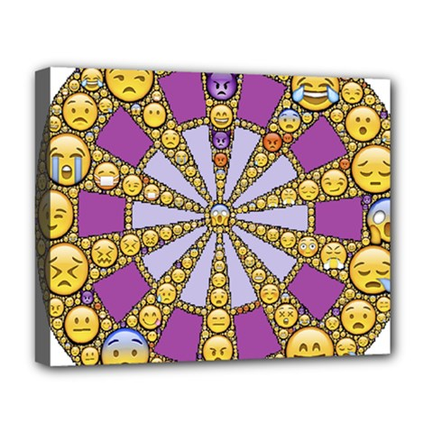 Circle Of Emotions Deluxe Canvas 20  X 16  (framed) by FunWithFibro