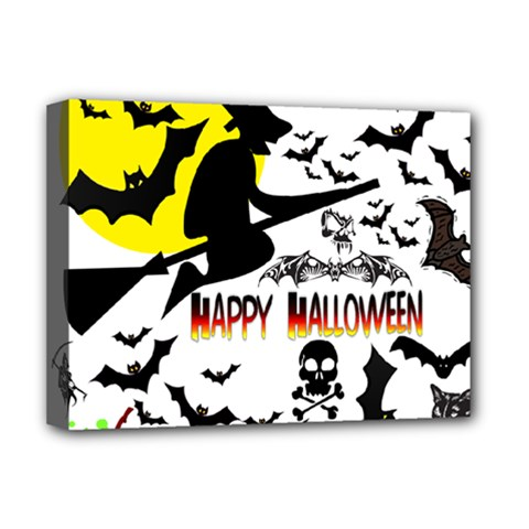 Happy Halloween Collage Deluxe Canvas 16  X 12  (framed)  by StuffOrSomething