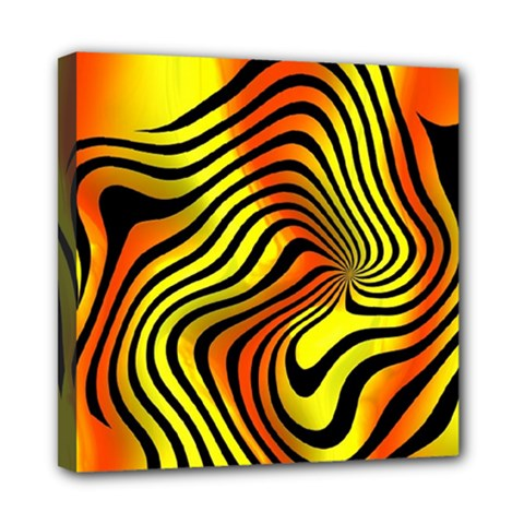 Colored Zebra Mini Canvas 8  X 8  (framed) by Colorfulart23