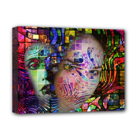 Artistic Confusion Of Brain Fog Deluxe Canvas 16  X 12  (framed)  by FunWithFibro