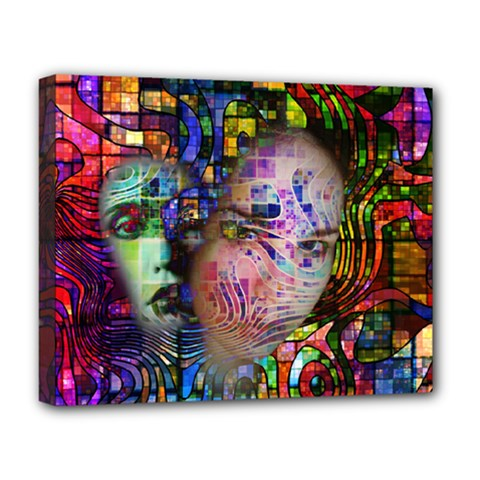 Artistic Confusion Of Brain Fog Deluxe Canvas 20  X 16  (framed)