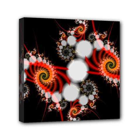 Mysterious Dance In Orange, Gold, White In Joy Mini Canvas 6  X 6  (framed) by DianeClancy