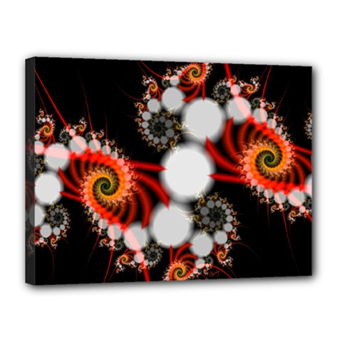 Mysterious Dance In Orange, Gold, White In Joy Canvas 16  X 12  (framed) by DianeClancy