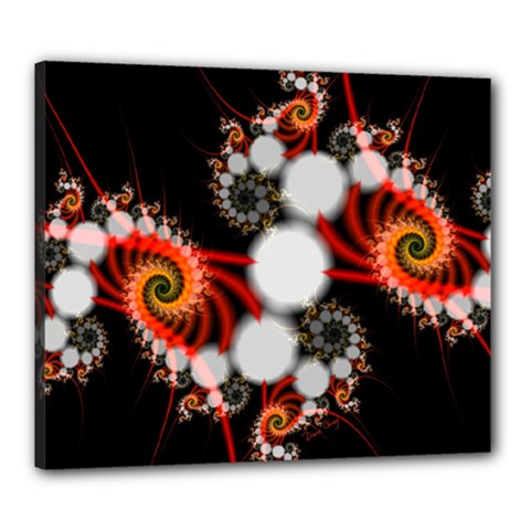 Mysterious Dance In Orange, Gold, White In Joy Canvas 24  X 20  (framed) by DianeClancy