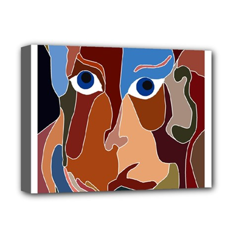 Abstract God Deluxe Canvas 16  X 12  (framed)  by AlfredFoxArt