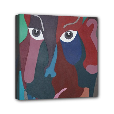 Abstract God Pastel Mini Canvas 6  X 6  (framed) by AlfredFoxArt