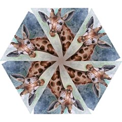 Giraffe Umberella Mini Folding Umbrella by ArtByThree