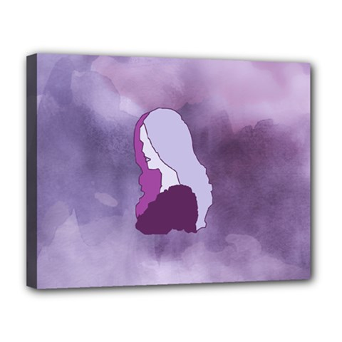 Profile Of Pain Canvas 14  X 11  (framed) by FunWithFibro