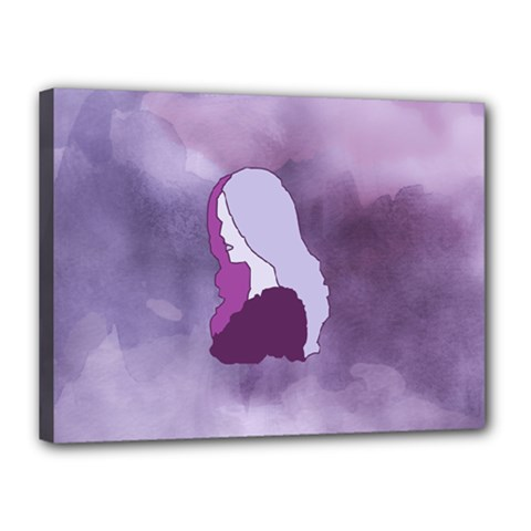 Profile Of Pain Canvas 16  X 12  (framed) by FunWithFibro