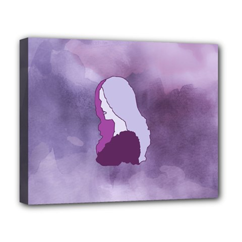 Profile Of Pain Deluxe Canvas 20  X 16  (framed) by FunWithFibro