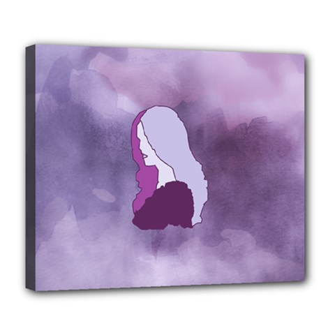 Profile Of Pain Deluxe Canvas 24  X 20  (framed) by FunWithFibro