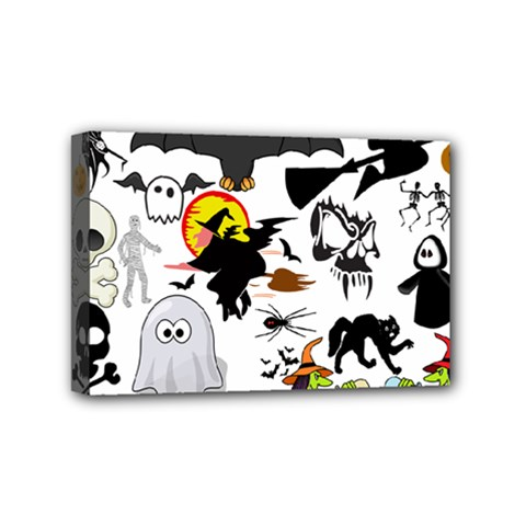 Halloween Mashup Mini Canvas 6  X 4  (framed) by StuffOrSomething