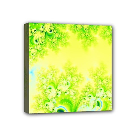 Sunny Spring Frost Fractal Mini Canvas 4  X 4  (framed) by Artist4God