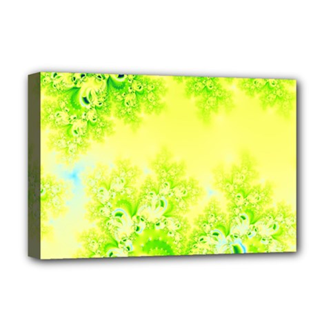 Sunny Spring Frost Fractal Deluxe Canvas 18  X 12  (framed) by Artist4God