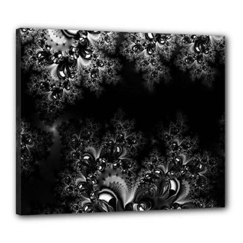 Midnight Frost Fractal Canvas 24  X 20  (framed) by Artist4God