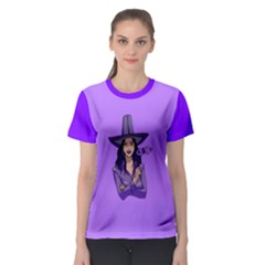 Purple Witch Women s Full All Over Print Sport T Shirt by FunWithFibro