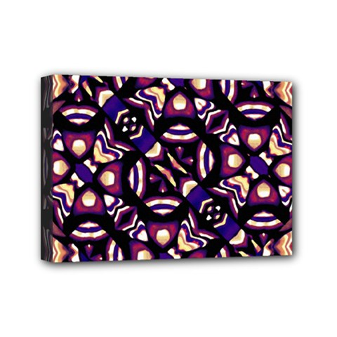 Colorful Tribal Pattern Print Mini Canvas 7  X 5  (framed) by dflcprints