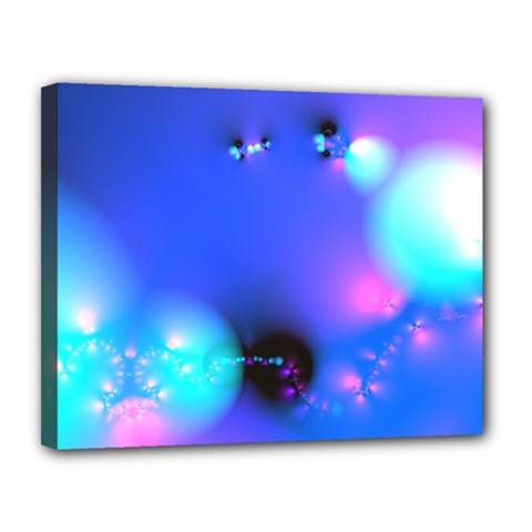 Love In Action, Pink, Purple, Blue Heartbeat 10000x7500 Canvas 14  X 11  (framed) by DianeClancy