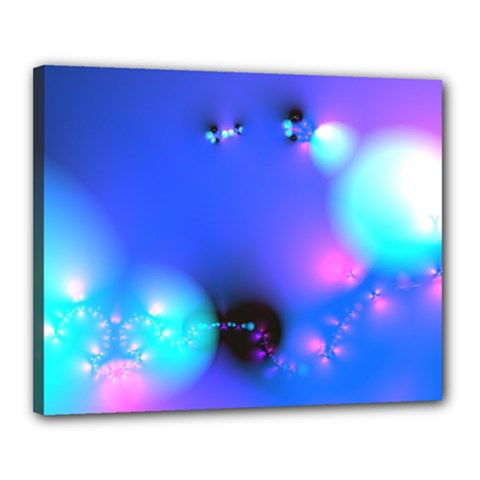 Love In Action, Pink, Purple, Blue Heartbeat 10000x7500 Canvas 20  X 16  (framed) by DianeClancy
