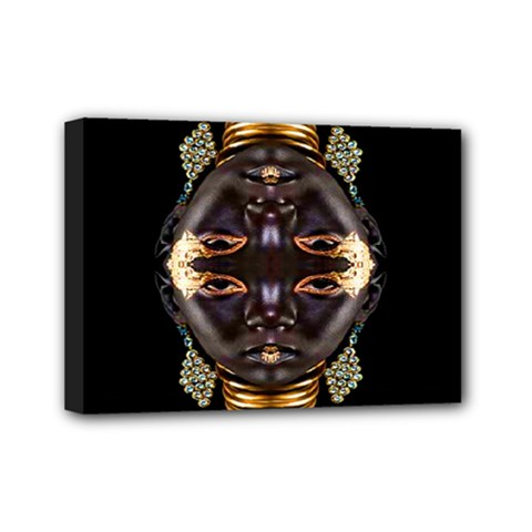 African Goddess Mini Canvas 7  X 5  (framed) by icarusismartdesigns