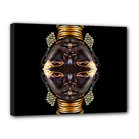 African Goddess Canvas 16  X 12  (framed)