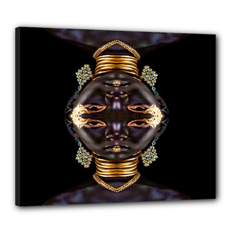 African Goddess Canvas 24  X 20  (framed) by icarusismartdesigns