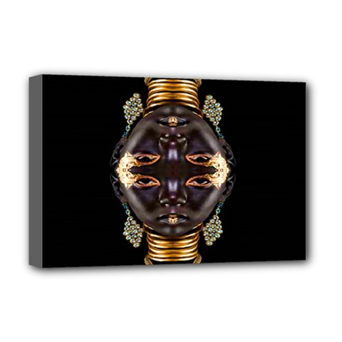 African Goddess Deluxe Canvas 18  X 12  (framed) by icarusismartdesigns
