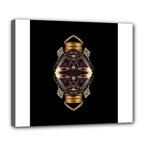 African Goddess Deluxe Canvas 24  X 20  (framed) by icarusismartdesigns
