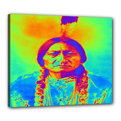 Sitting Bull Canvas 24  X 20  (framed) by icarusismartdesigns