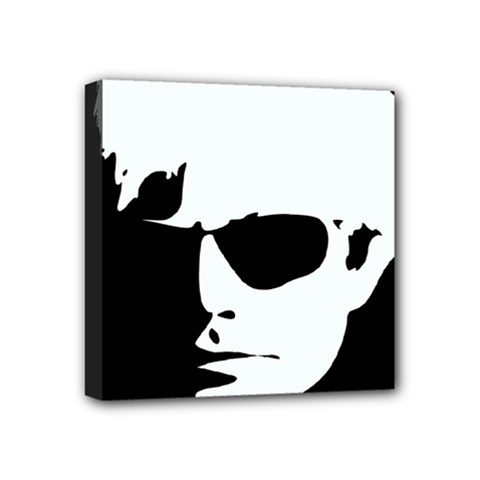 Warhol Mini Canvas 4  X 4  (framed) by icarusismartdesigns