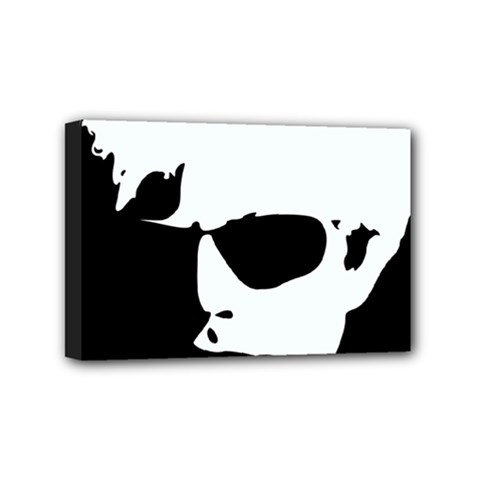 Warhol Mini Canvas 6  X 4  (framed) by icarusismartdesigns