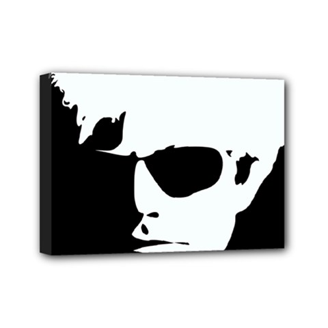 Warhol Mini Canvas 7  X 5  (framed) by icarusismartdesigns