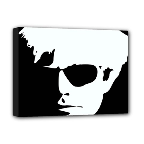 Warhol Deluxe Canvas 16  X 12  (framed)  by icarusismartdesigns